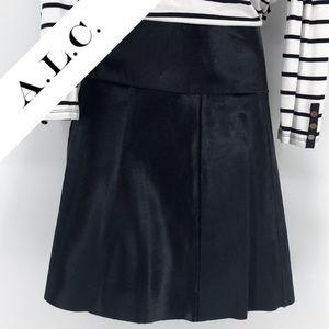 ALC Baby Calf Leather Skirt